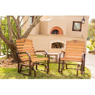 Breen Fleur De Lis Tete-a-Tete 3 Piece Glider Chair Set