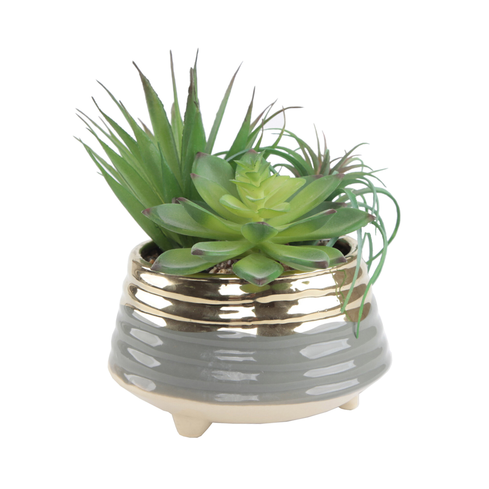 Mercer41 Cleary 3 Tone Footed Ceramic Pot Planter Reviews Wayfair