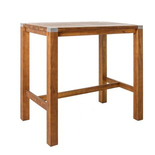 Solis Wooden Bar Table By Sol 72 Outdoor