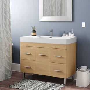 Waldwick 39 Single Modern Bathroom Vanity Set By Wade Logan