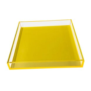 Plastic Yellow Decorative Trays You Ll Love In 2021 Wayfair