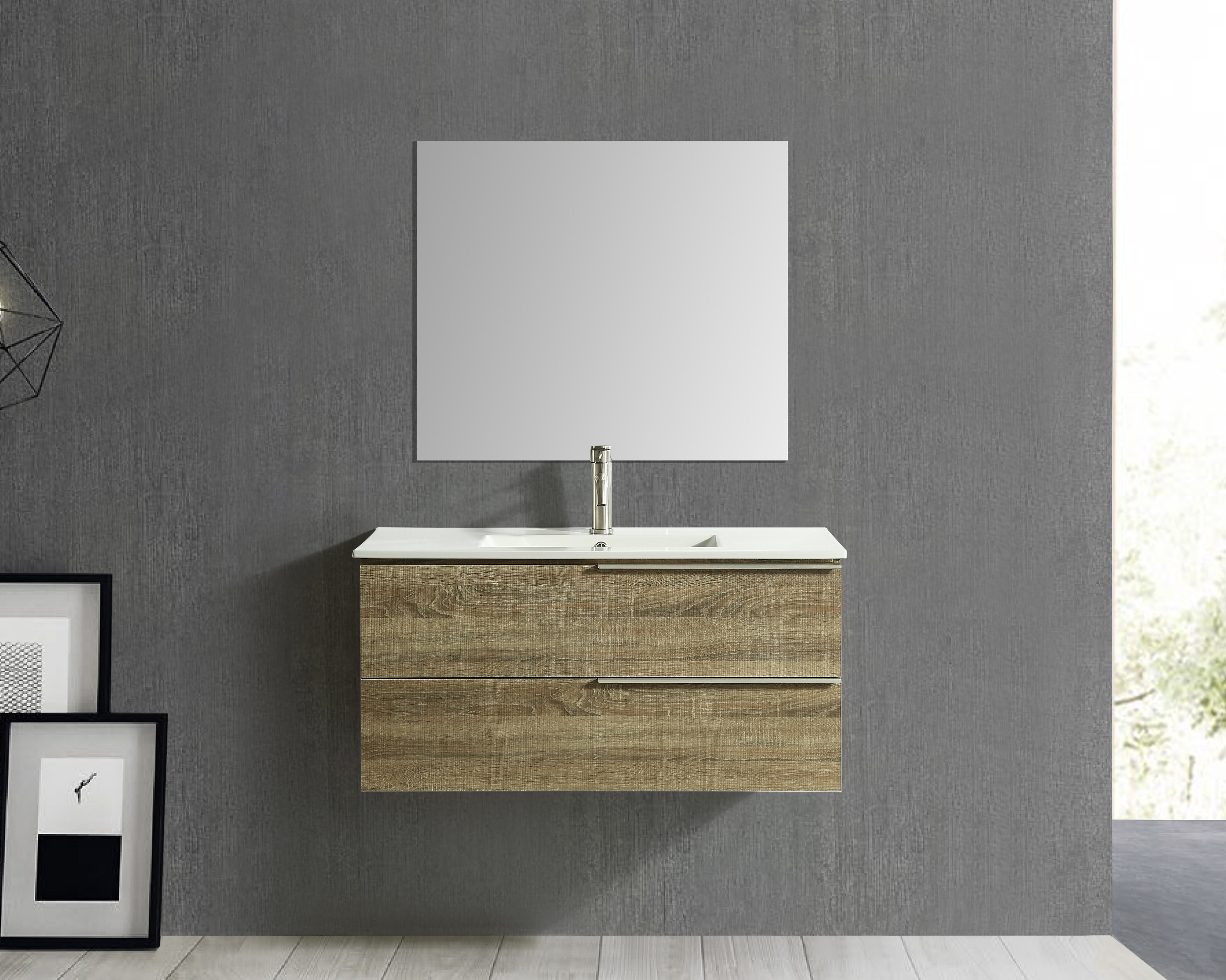 Orren Ellis Rodgers 40 Wall Mounted Single Bathroom Vanity Wayfair