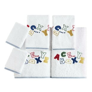 Kids 6 Piece Turkish Cotton Towel Set