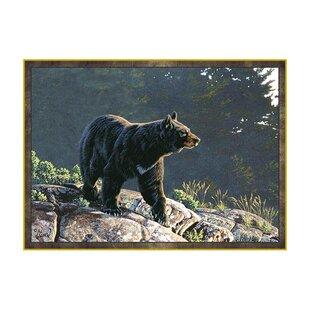 Wildlife Black Bear Area Rug