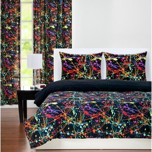 Neon Splat Reversible Comforter Set