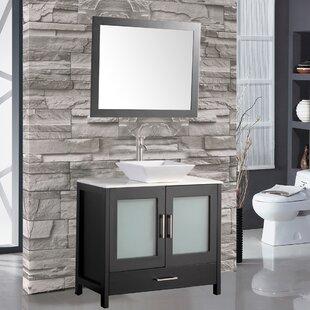 Powley 36 Bathroom Vanity Set with Mirror by Orren Ellis