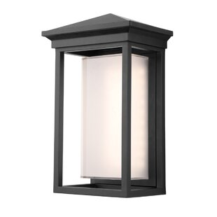 Tecca Contemporary 1-Light Outdoor Flush Mount by Longshore Tides