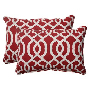New Geo Corded Indoor/Outdoor Lumbar Pillow (Set of 2)