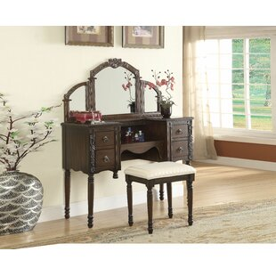 Exmouth Vanity Set with Mirror by Canora Grey