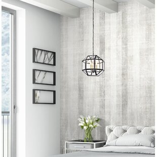 Burkeville 3-Light Geometric Chandelier by Ivy Bronx