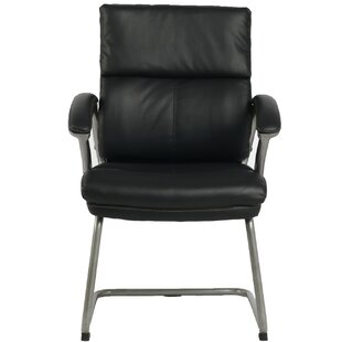 Bettye High-Back Leather Guest Chair by Latitude Run
