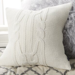 Seaward Knit Cable Cotton Throw Pillow