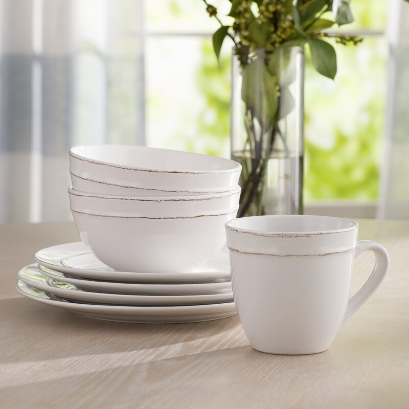 Harwood 16 Piece Dinnerware Set Service for 4 & Harwood 16 Piece Dinnerware Set Service for 4 \u0026 Reviews | AllModern