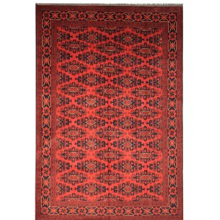 Curry Hand Knotted Wool Red Rug by World Menagerie