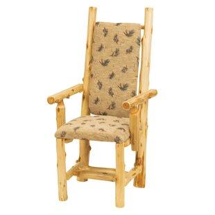 Traditional Cedar Log Arm Chair by Firesi..