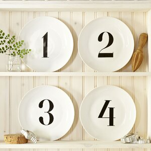 Cooke Numbered Salad Plates