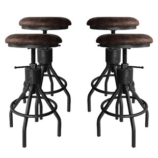 Verdell Backless Adjustable Height Swivel Bar Stool - set of 4 (Set of 4) by 17 Stories