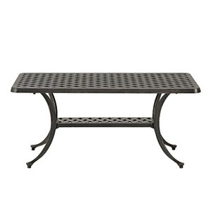Cast Aluminum Wicker Style Patio Coffee Table
