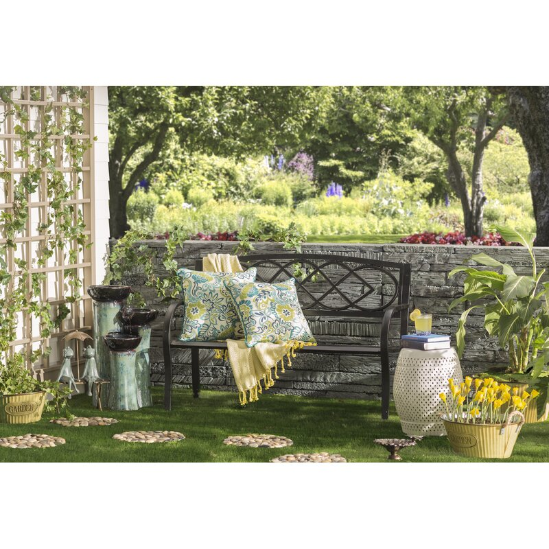 Plow & h Celtic Knot Iron Garden Bench & Reviews | Wayfair Wrought Iron Round Garden Designs Html on round swimming pool designs, round tree house designs, round stained glass designs, round jewelry designs, round patio designs, round kitchen designs, round gate designs, round chimney designs, round picket fence designs, round ironwork designs, round art designs, round pottery designs,