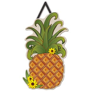 Dickens Pineapple Letter Perfect Wall D?cor by Bay Isle Home
