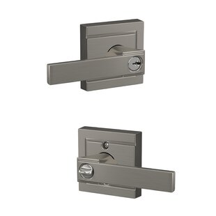 Northbrook Lever with Upland Keyed Entry Lock by Schlage