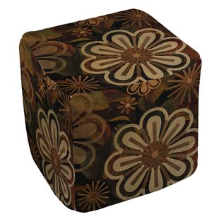 Floral Abstract 2 Pouf by Manu..