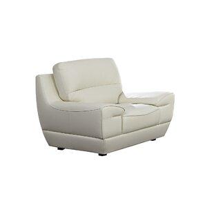 Navya Leather Armchair by Orren Ellis