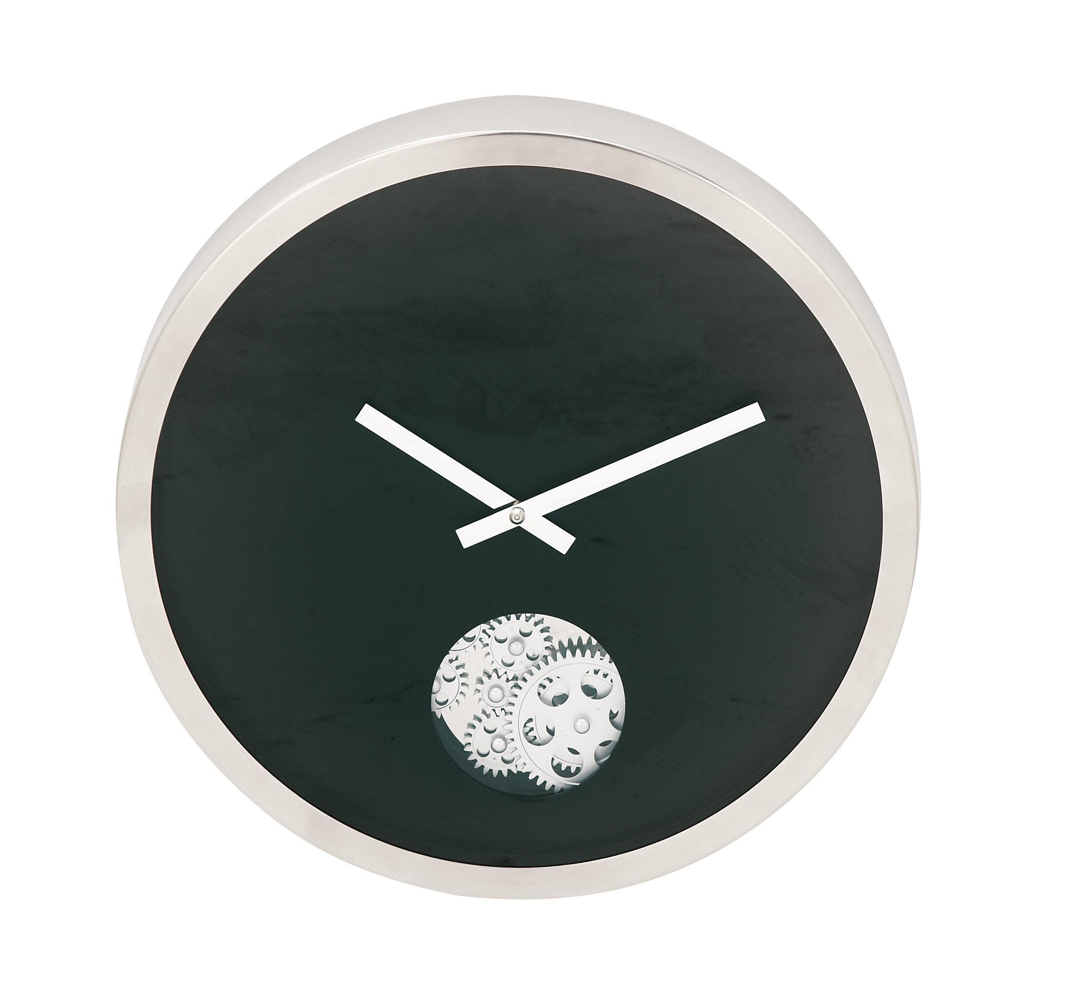 Cole Grey Stainless Steel Gear 17 Wall Clock Wayfair