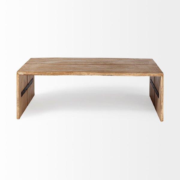 Gracie Oaks Elysburg Solid Wood Sled Coffee Table Wayfair