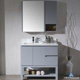 Maly 66 Single Bathroom Vanity Set with Mirror by Orren Ellis