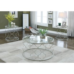 Rosdorf Park Christina 3 Piece Coffee Table Set