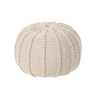 Bryant Maag Knitted Pouf by Gracie Oaks