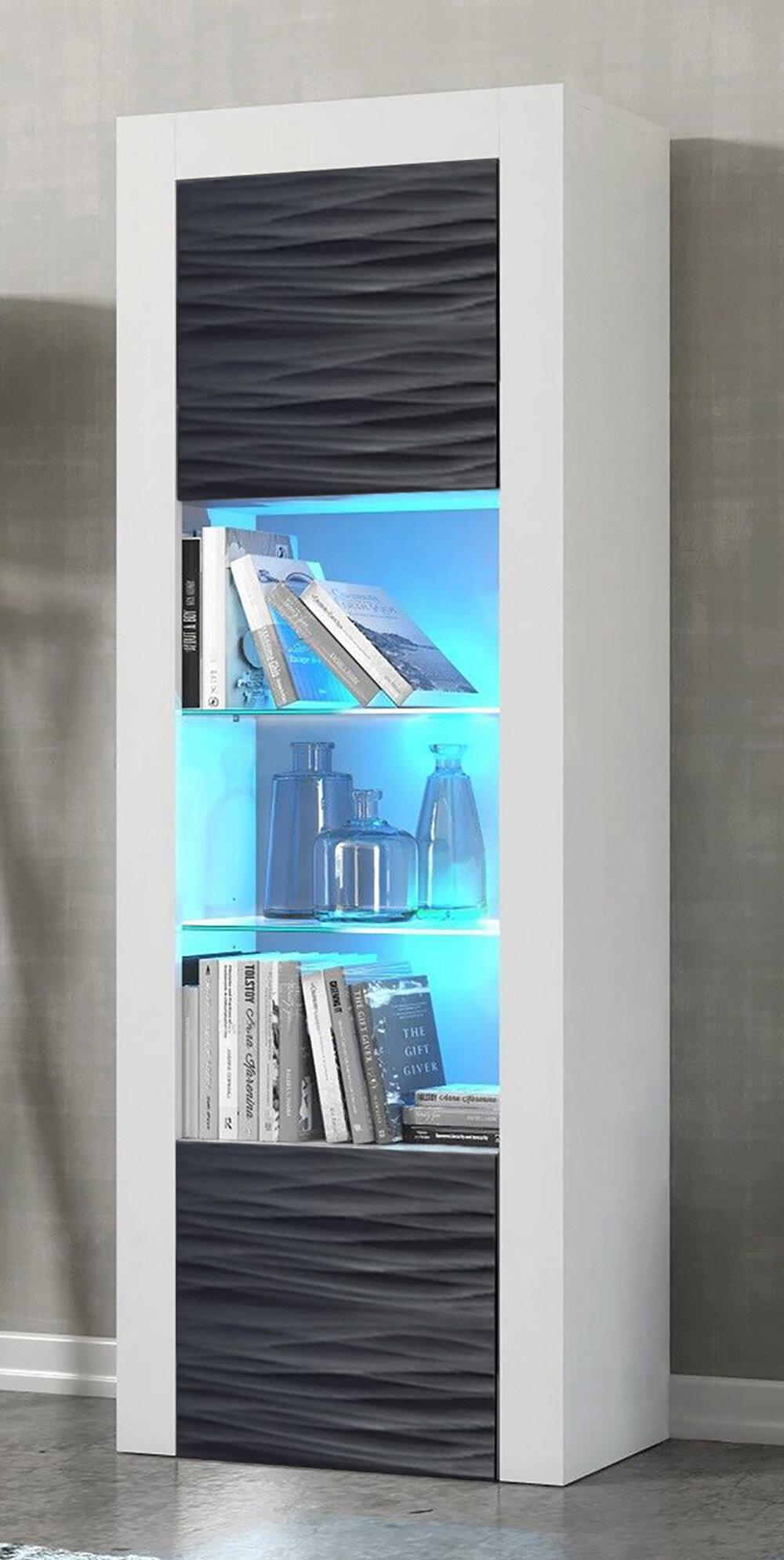 Ranallo Wavy Fronts Matte Body Barrister Bookcase