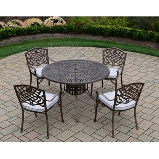Oakland Living Sunray Mississippi 5 Piece Dining Set with Cushions