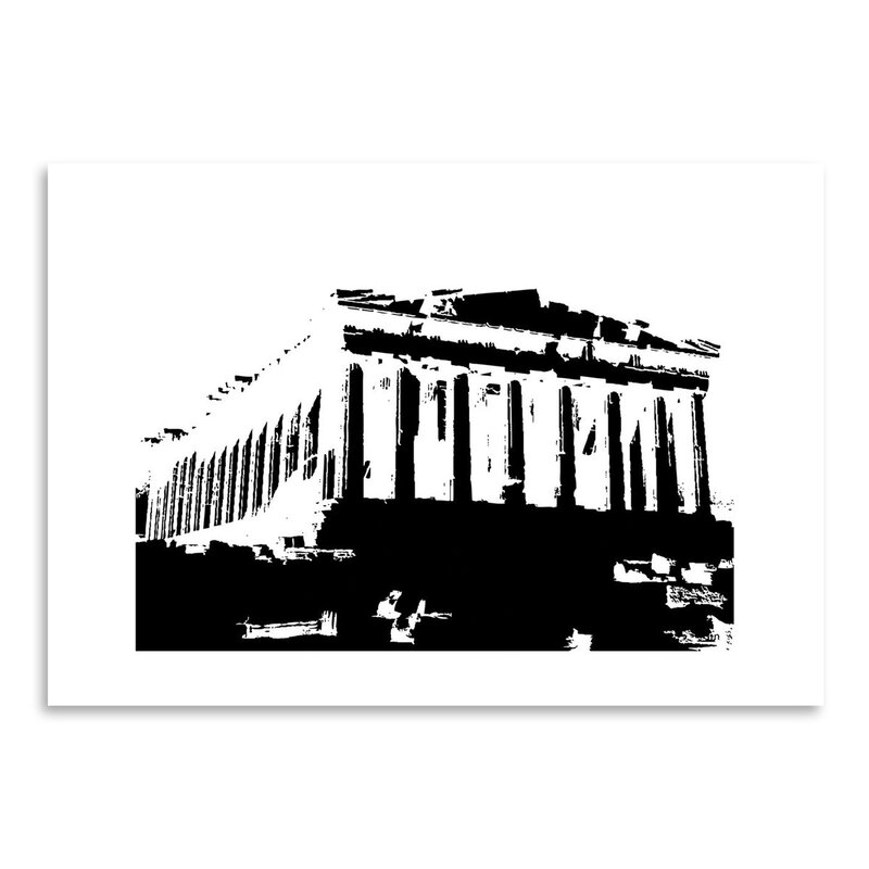 East Urban Home Acropolis 2 Graphic Art In Black Wayfair