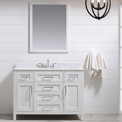 Tahoe 48 Single Bathroom Vanity Set With Mirror In White