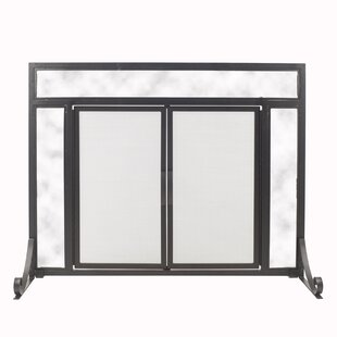 Manchester Single Panel Steel Fireplace Screen by Pleasant Hearth