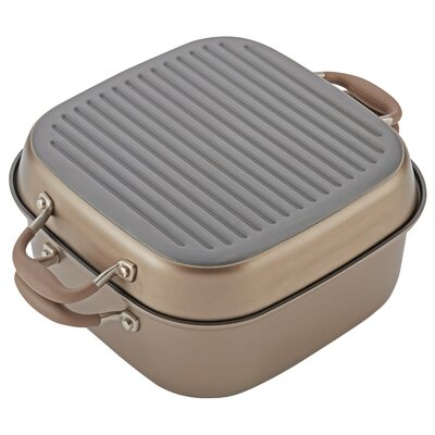 11 Advanced 2-in-1 Non-Stick Grill Pan Anolon Color: Bronze