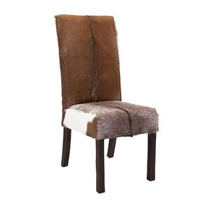 Andros Animal Hide Side Chair by Woodland Imports