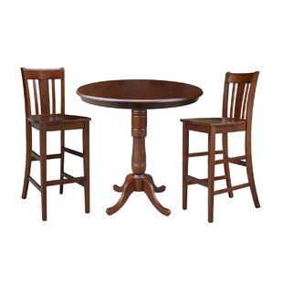 Dinges 3 Piece Pub Table Set DarHome Co