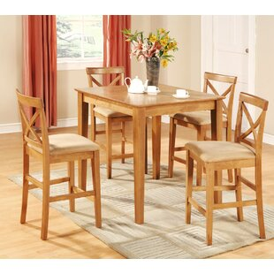 Great Divide 5 Piece Counter Height Pub Table Set by Red Barrel Studio