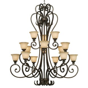 Wildon Home ® Cambridge 15-Light Shaded Chandelier