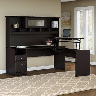 Best Deals Hillsdale L-Shaped Height Adjustable Computer Desk with Hutch ByRed Barrel Studio