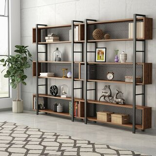 Alpine Vintage Industrial Etagere Bookcase by Williston Forge SKU:DD891668 Buy