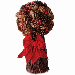 Pine Cone and Berry Floral Arrangement (Set of 2)