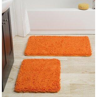Memory Foam Shag 2 Piece Bath Rug Set