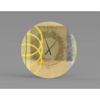 Orren Ellis Oversized Gleichman Wall Clock Wayfair