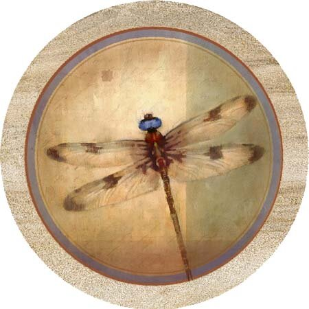 Set of 6 Cork Drink Coasters Dragonfly