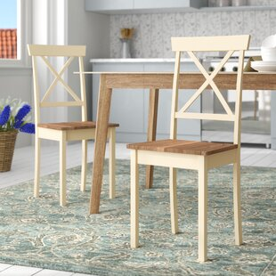 Jarrett Painted Solid Wood Dining Chair (Set Of 2) By Brambly Cottage