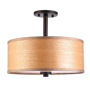 3-Light Semi Flush Mount by Woodbridge Lighting